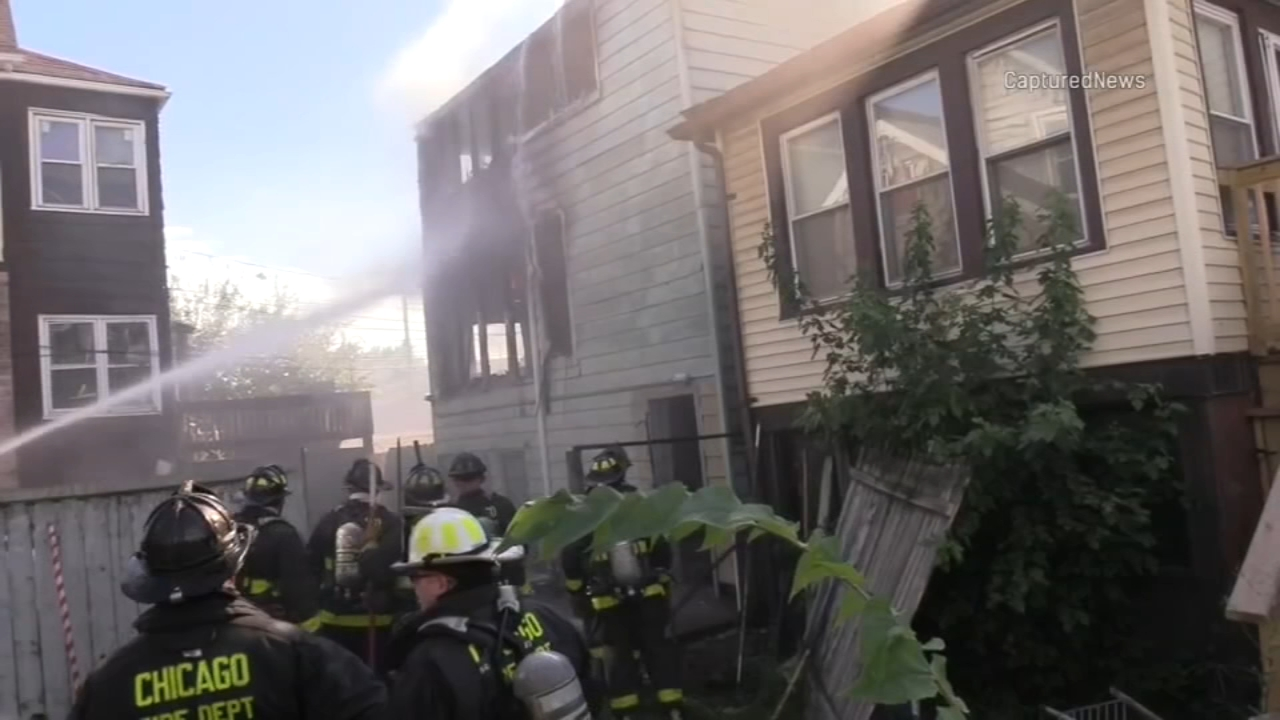Chicago firefighters responded Sunday to an apartment fire in the 10000 block of South Avenue L.