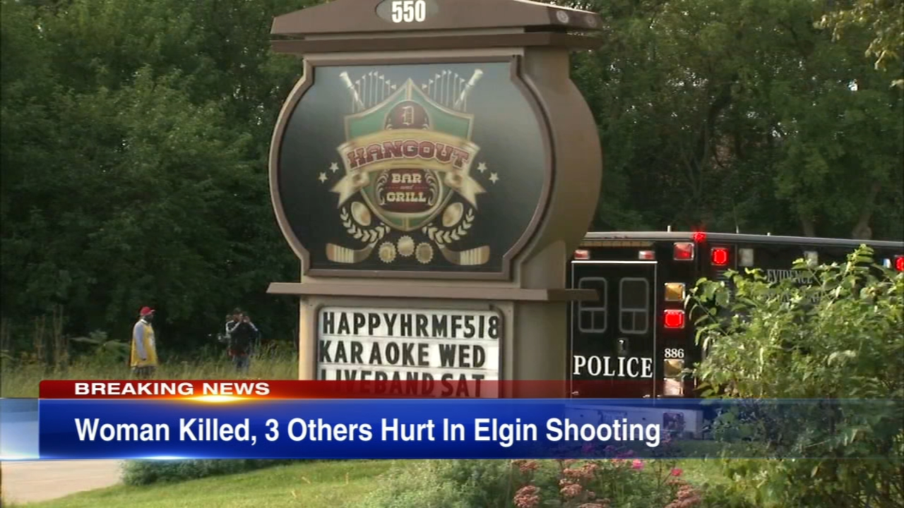 Four people were shot, one fatally, in an Elgin parking lot.