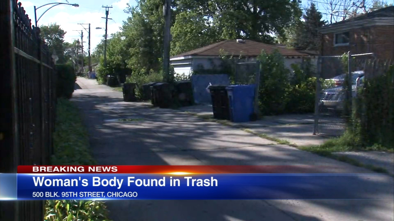 Trash collectors found a womans body in Chicagos Brainerd neighborhood.