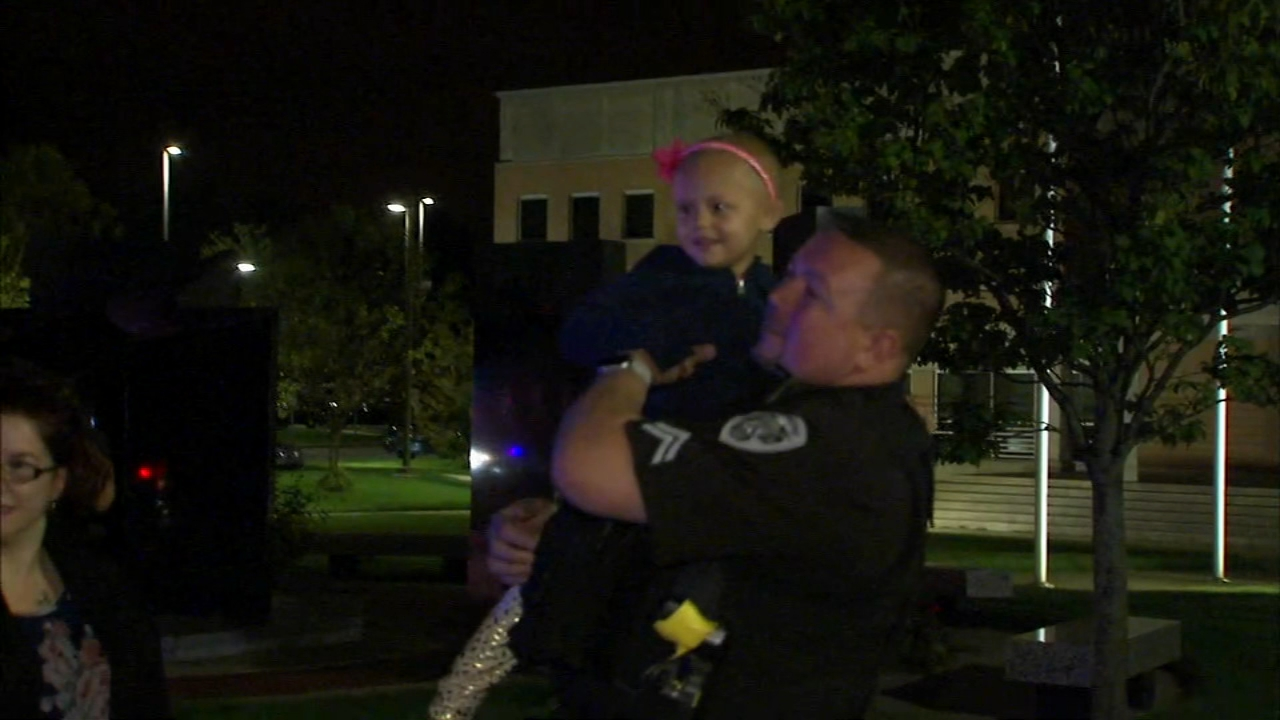 Monday, a 5-year-old cancer patient from Hammond, Indiana is getting her second-to-last chemo treatment, and shes getting a special escort to the hospital in Indianapolis.
