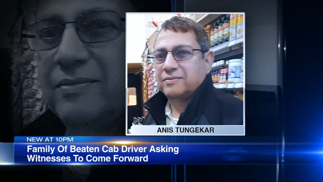 The family of a cab driver - beaten and killed in downtown Chicago - believes someone must have seen the attack.