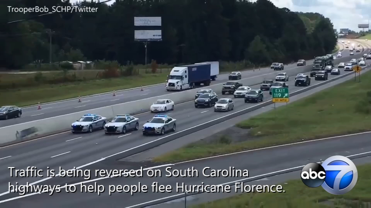 Gas shortages and traffic gridlock are making it difficult for those trying to flee Hurricane Florence.