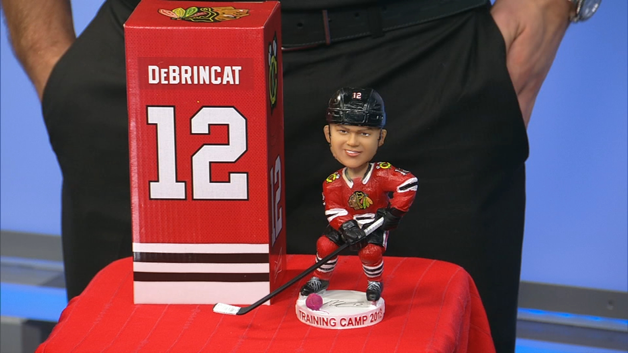The first 10,000 fans at the Blackhawks Training Camp Festival will get an Alex DeBrincat bobblehead.
