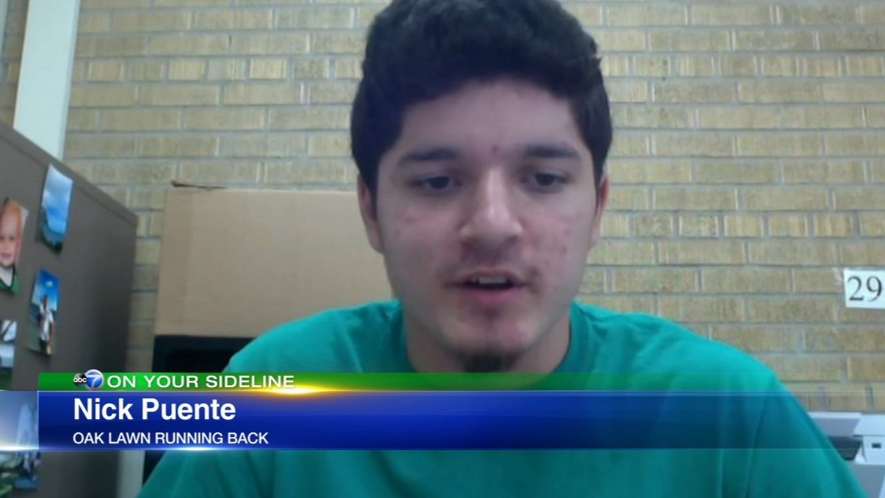Oak Lawn Community High School running back Nick Puente is the focus of this weeks 7 on Your Sideline.