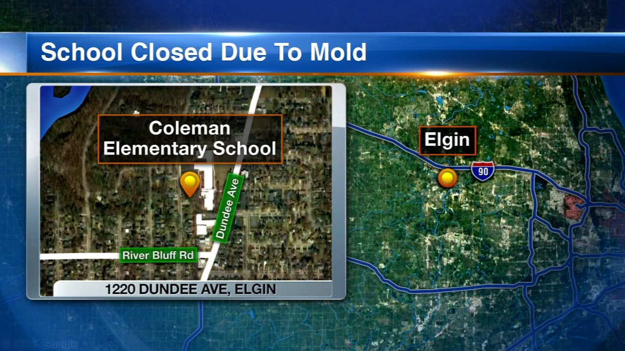 Coleman Elementary School in Elgin will be closed Thursday because of mold.