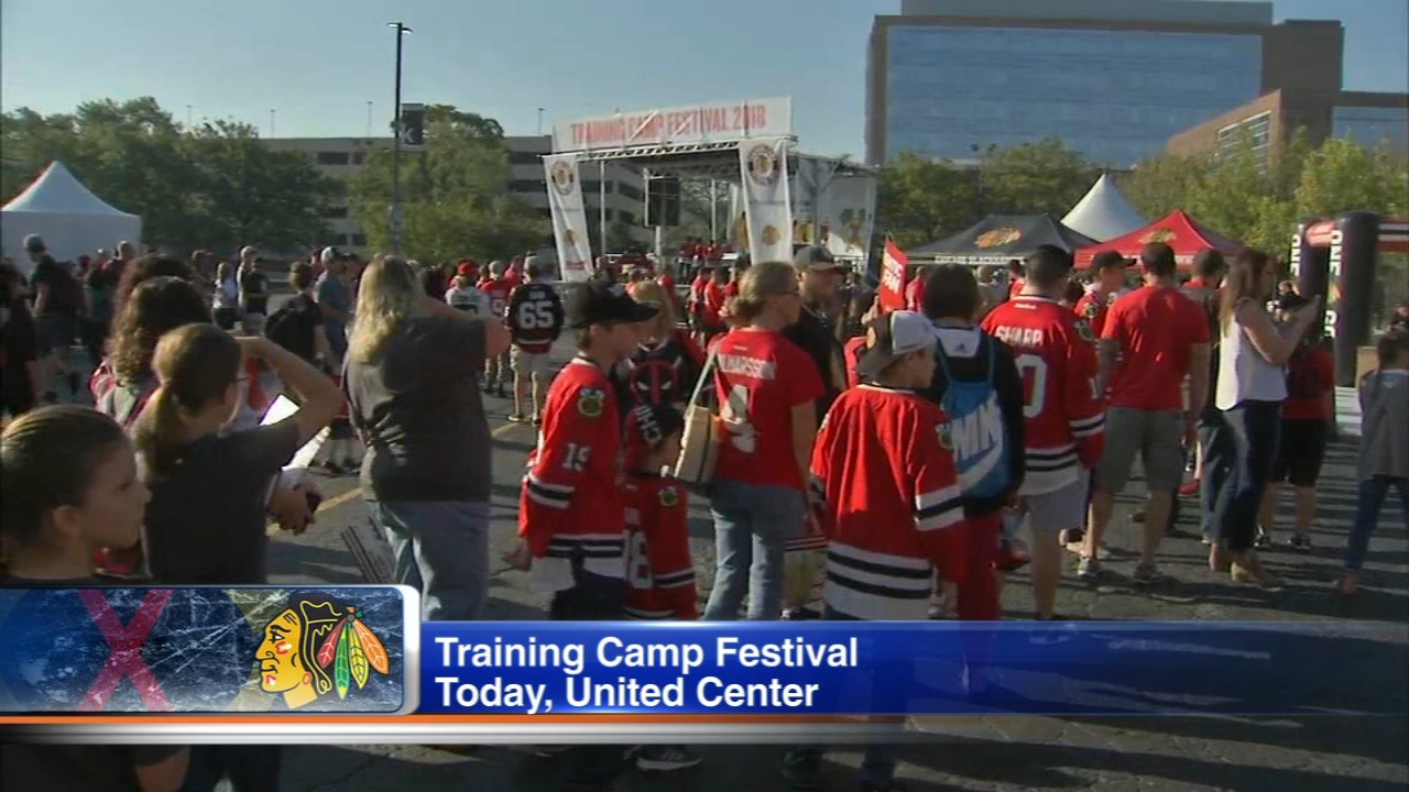 The Blackhawks are holding their Training Camp Festival Saturday.