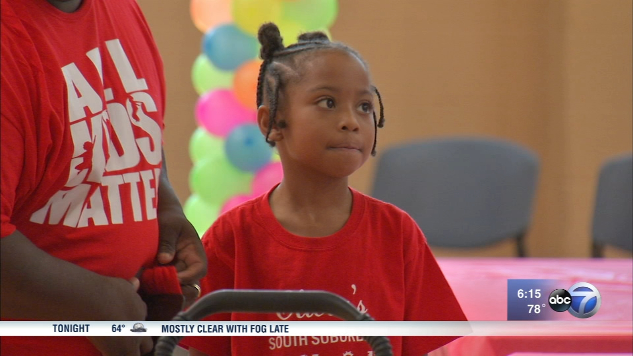 Olivia Shorter, of Matteson, battles sickle cell disease and holds an annual party for children just like her.