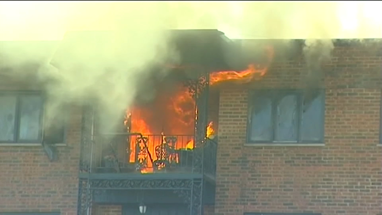 A woman in her 80s or 90s died in an apartment fire, neighbors said.