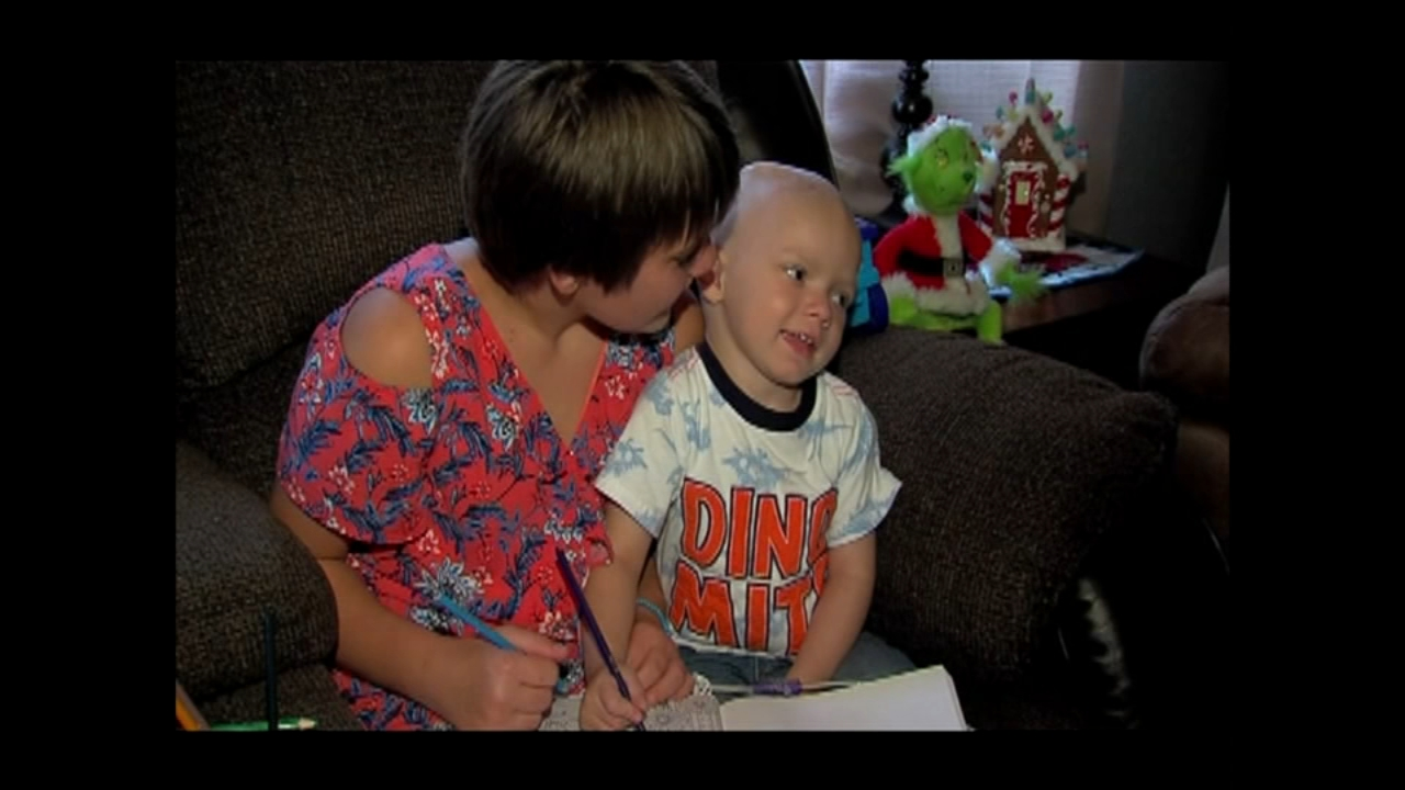 An Ohio neighborhood decorated for Christmas in September to help a child with cancer celebrate for the final time.