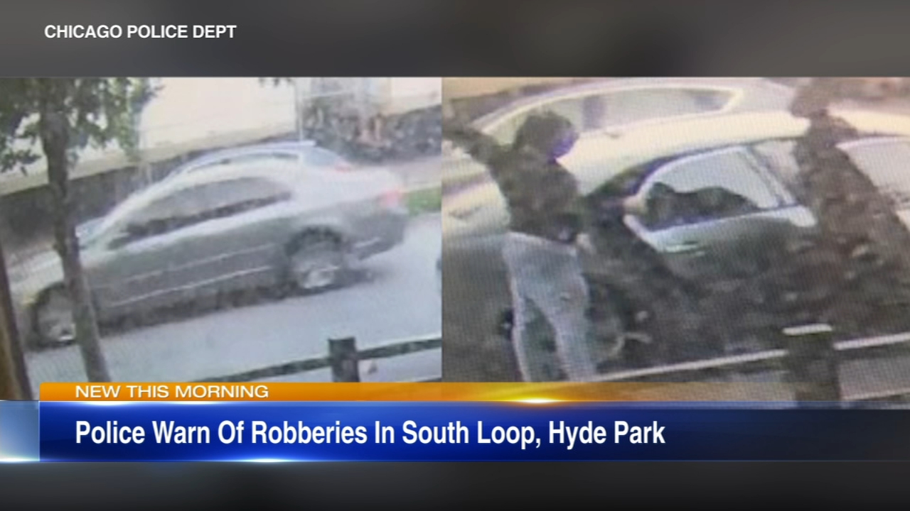 A series of violent robberies has hit the South Loop and Hyde Park.
