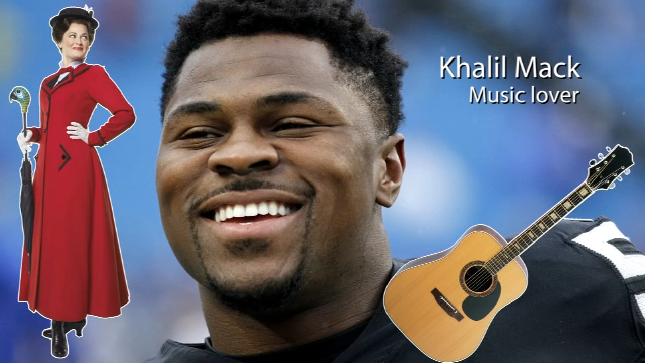 Did you know Khalil Mack loves Mary Poppins and plays the guitar? See more fun facts about the newest Bears.
