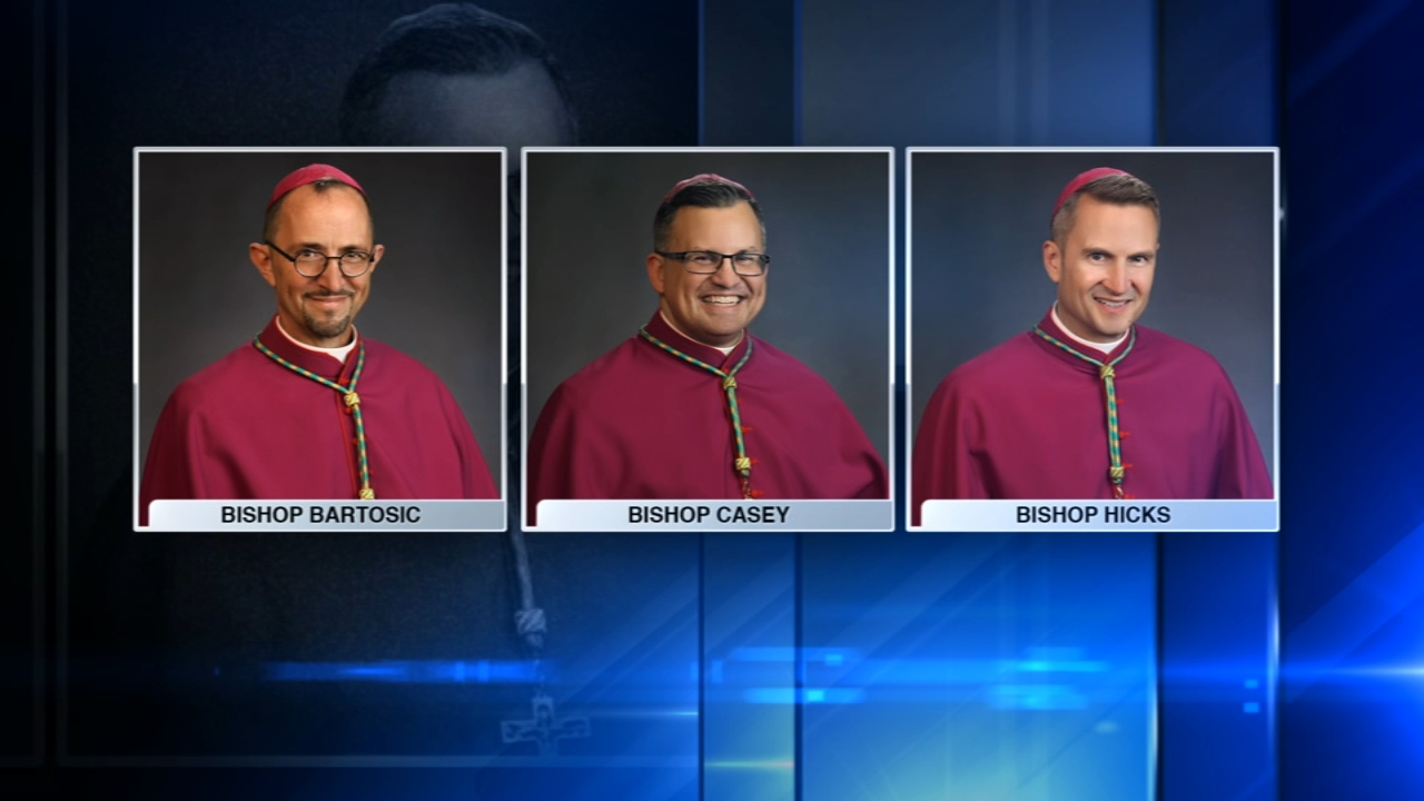 Mark Bartosic, Robert Casey and Ronald Hicks were ordained as bishops at Holy Name Cathedral.
