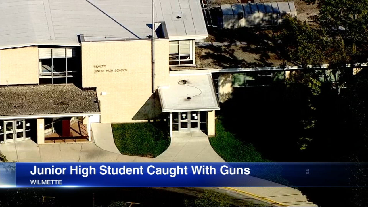 A junior high student in Wilmette may face charges after police found the child to be in possession of several weapons and explosive materials on Monday.