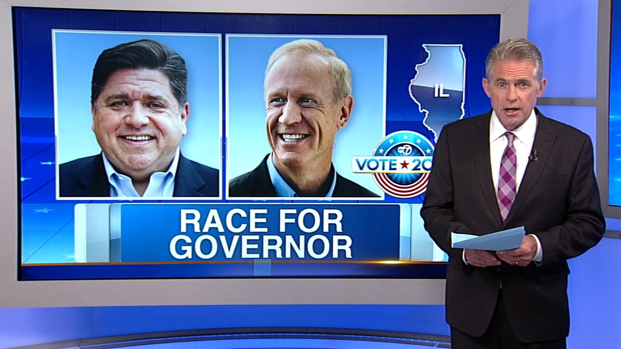 Bruce Rauner and J.B. Pritzker square off in the first gubernatorial debate on Thursday.
