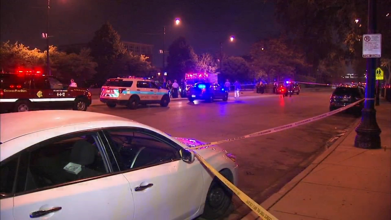 Police say a woman, a 13-year-old girl and 16-month-old girl were shot at Cermak Road and State Street in Chicagos South Loop neighborhood Wednesday night.
