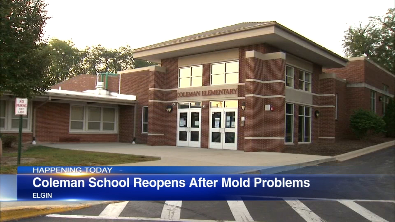 An Elgin elementary school is reopening after mold problems forced it to be closed since last Thursday.