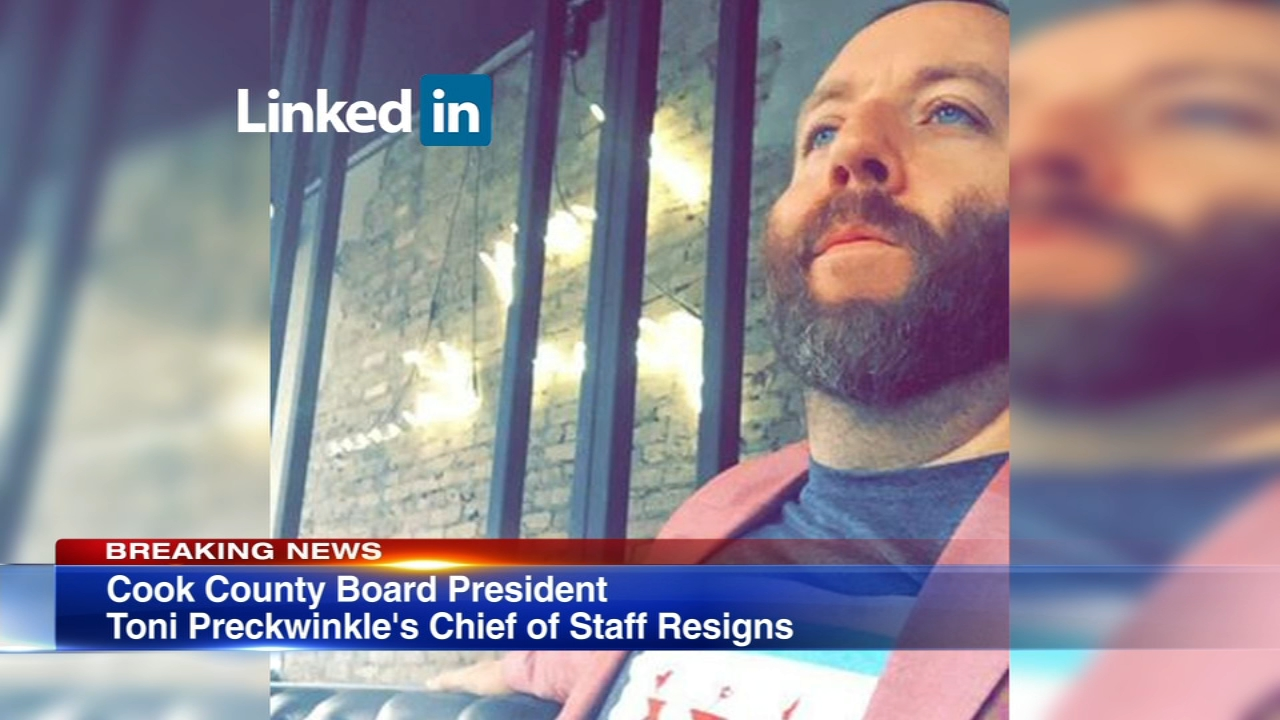 Cook County Board Chief of Staff John Keller resigned from his position Tuesday night at the request of board president Toni Preckwinkle.