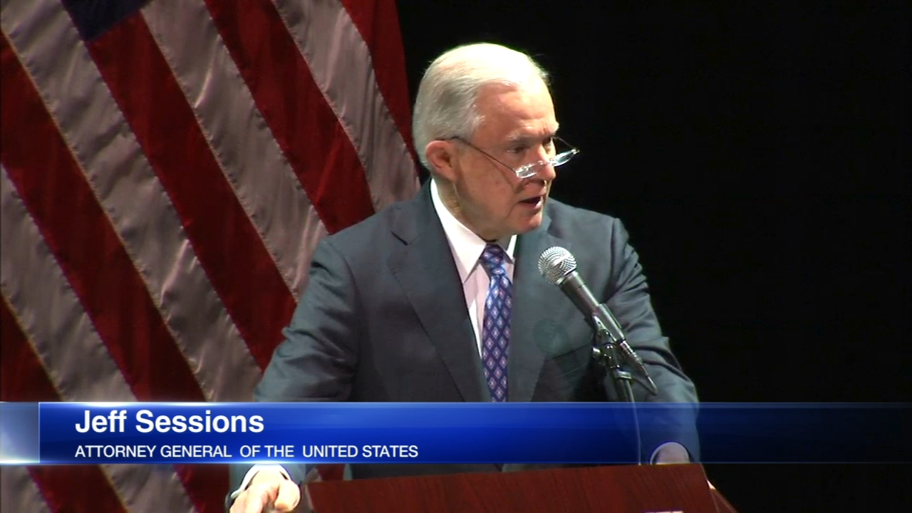 Attorney General Jeff Sessions made a surprise visit to Chicago ahead of a speech in Waukegan Wednesday.