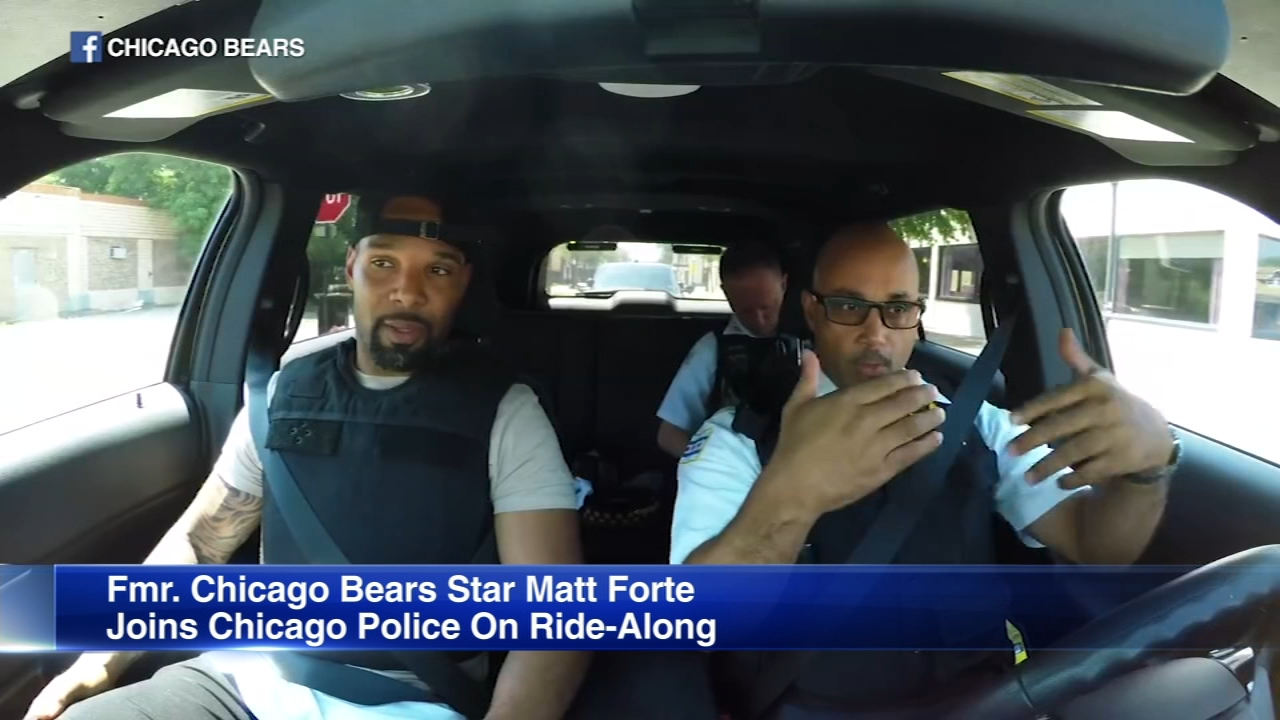 Former Chicago Bears star running back Matt Forte says he has a whole new respect for police officers.