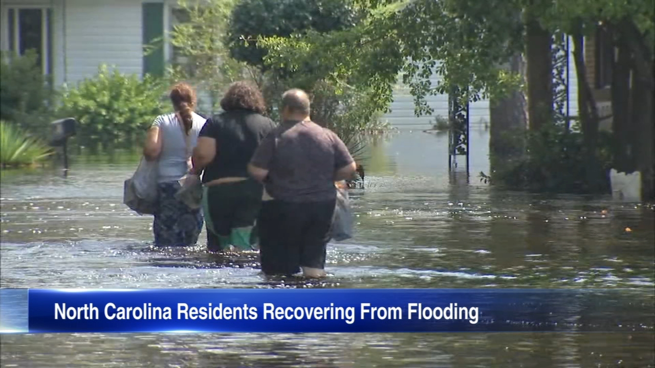 With rivers still rising in Lumberton, North Carolina, thousands of people are still unable to return home.