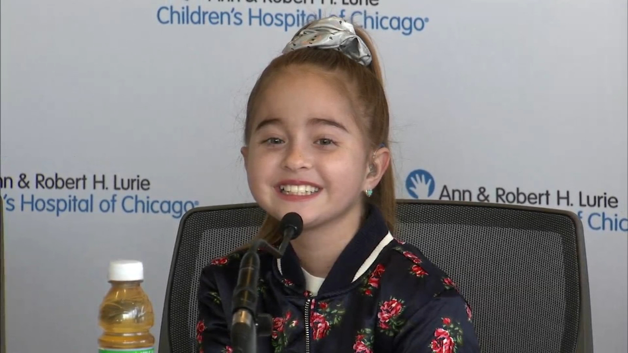 The 11-year-old girl who received a heart transplant and got to meet Drake told her supporters Thursday that she is grateful for all of their help.