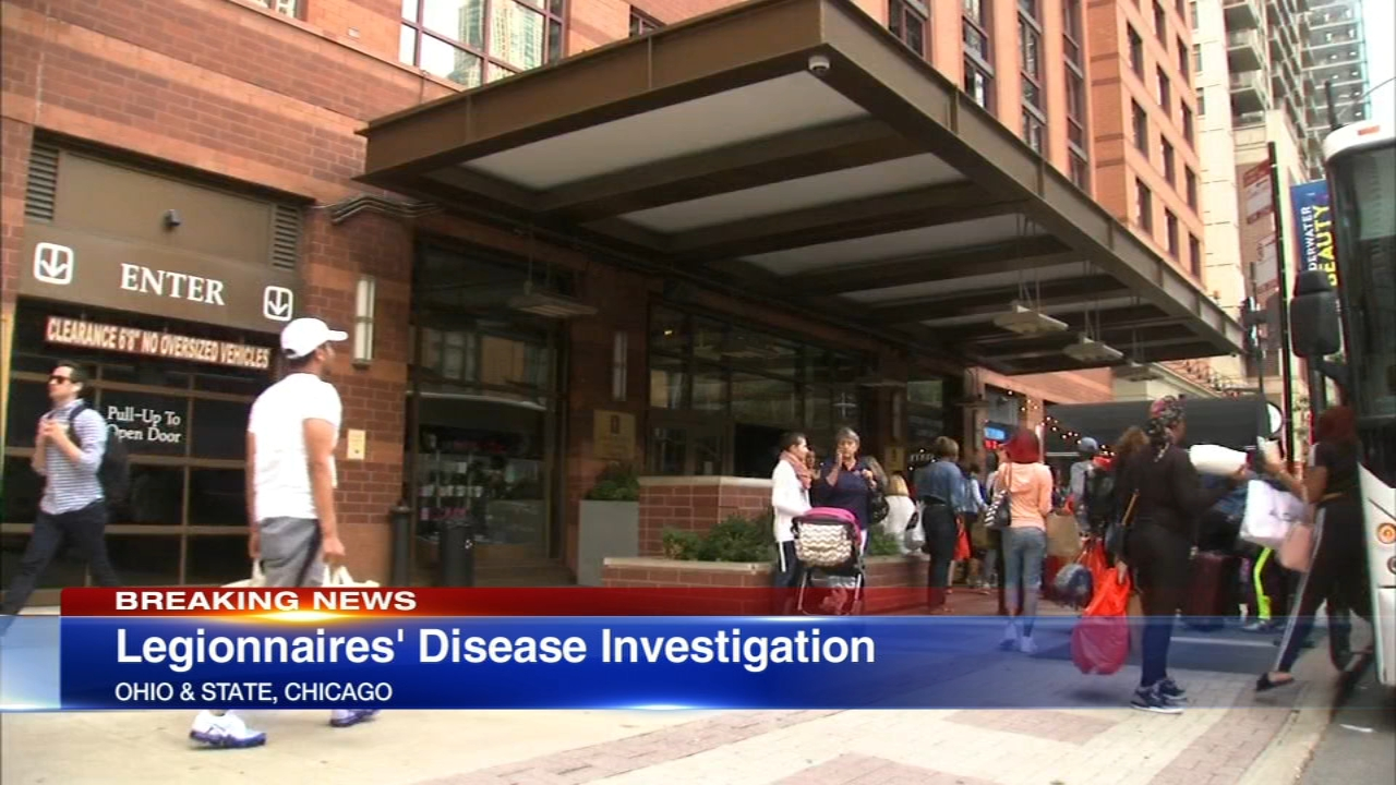 The Chicago Department of Public Health is investigating two confirmed cases of Legionnaires disease in which the only commonality is that the individuals both stayed at the same