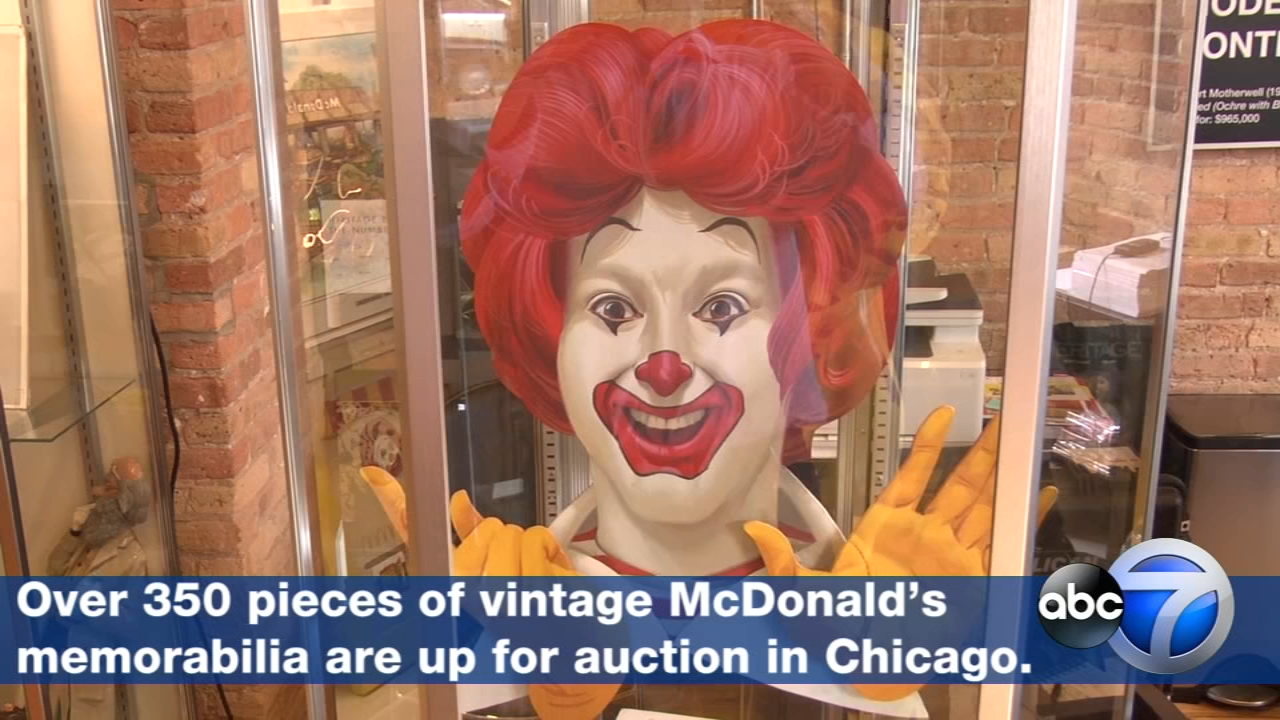 The original Ronald McDonald playground statue, Hamburgler models, and never-before-seen prototypes are just some of the more than 350 pieces being auctioned off at Heritage Auctio