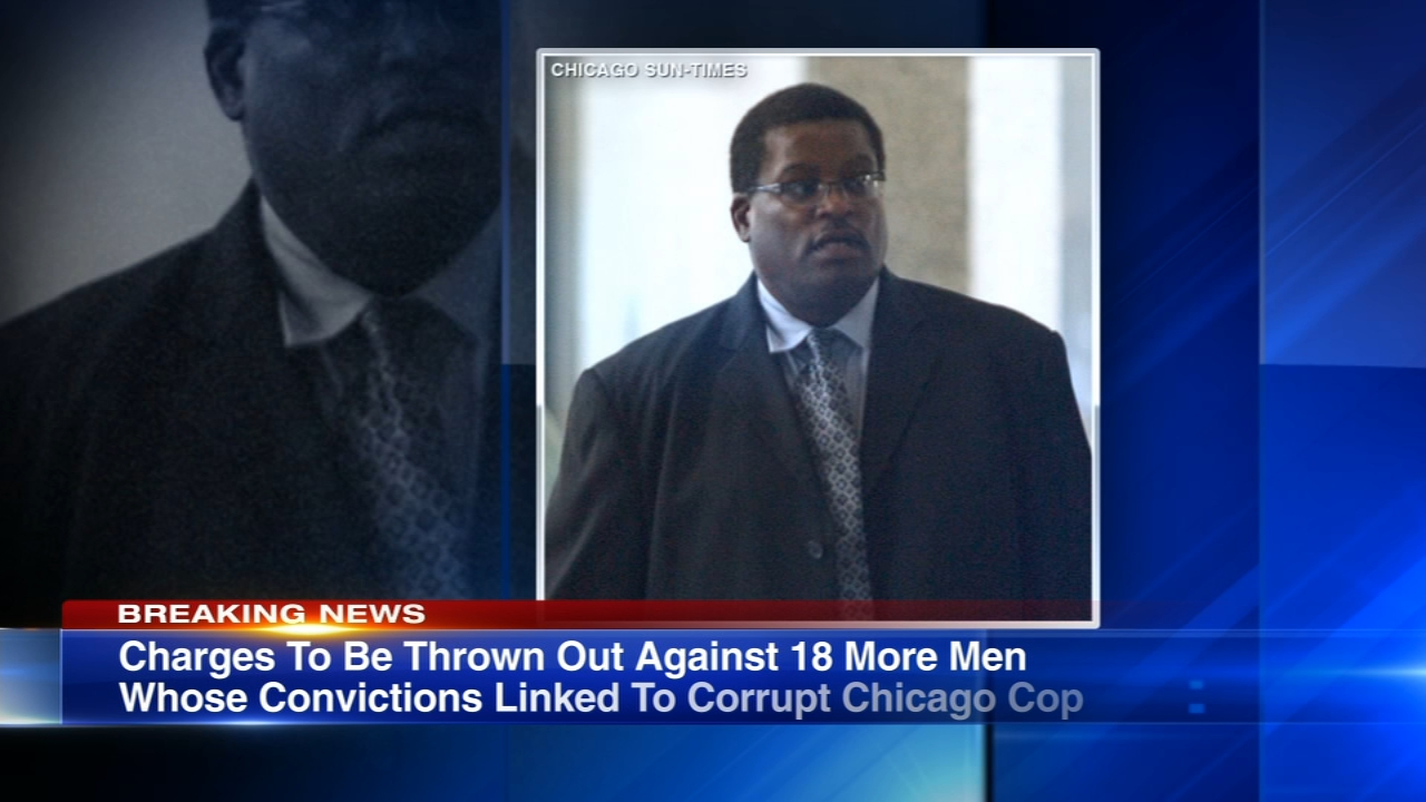 Charges will be thrown out against 18 men whose convictions linked them to a corrupt Chicago police officer.