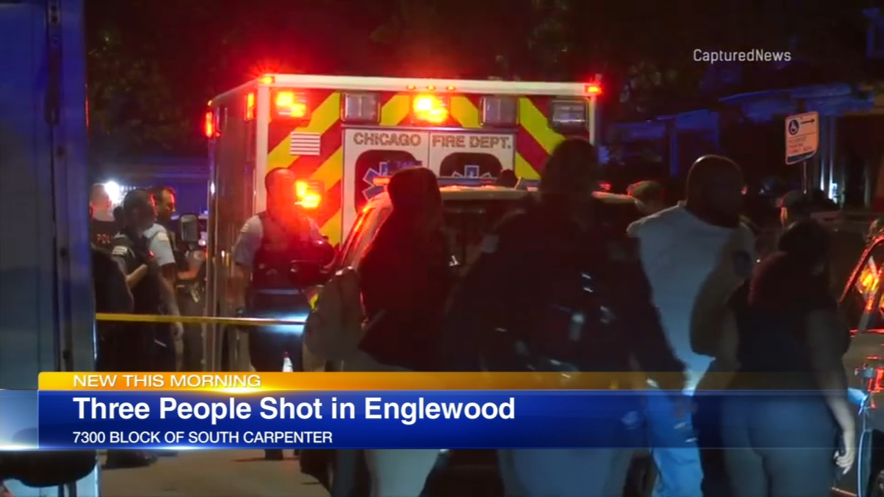 Three people were shot in Englewood early Saturday.