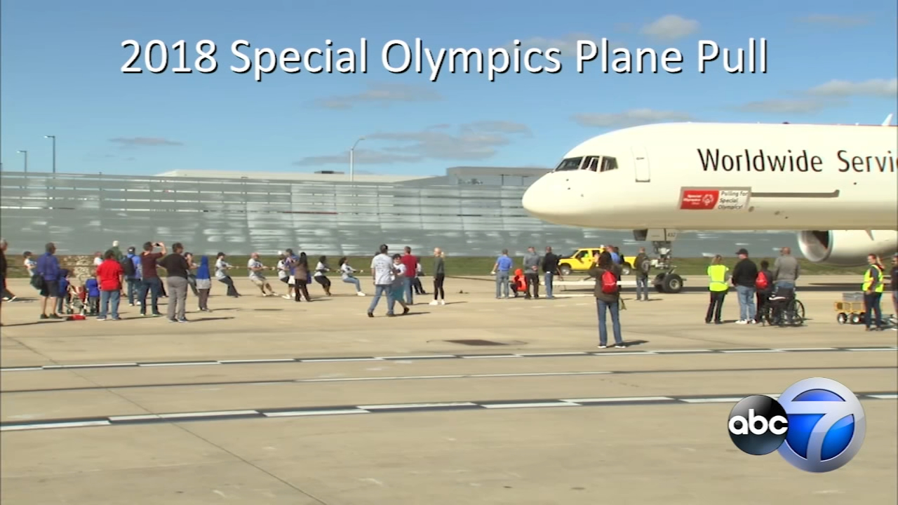 Plane Pull at OHare raises funds for Special Olympics Illinois.