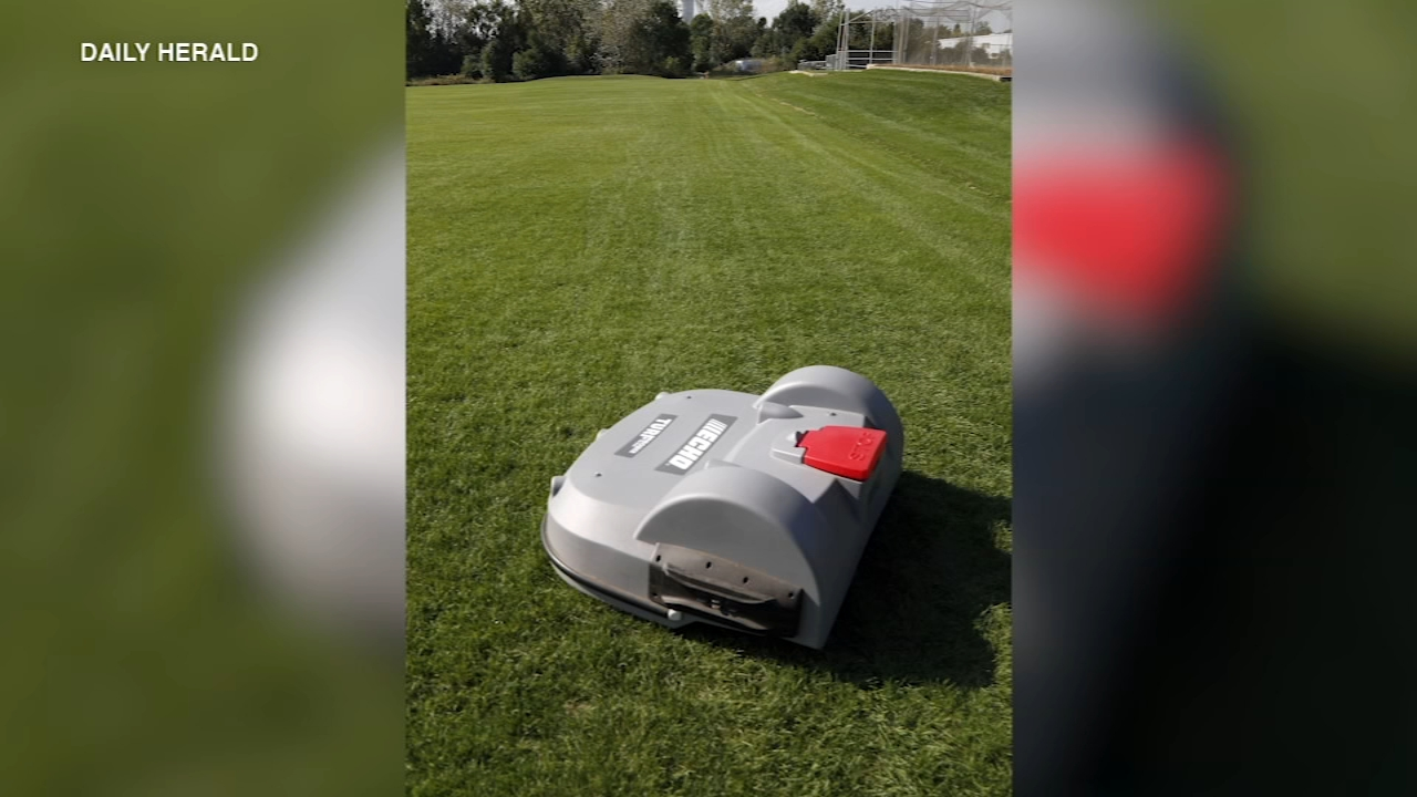 Lake Zurich High School fields are being mowed by a prototype robot.