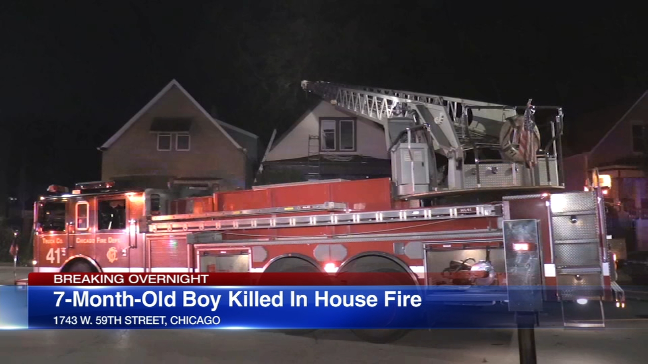 A baby boy was killed in an accidental house fire early Sunday.