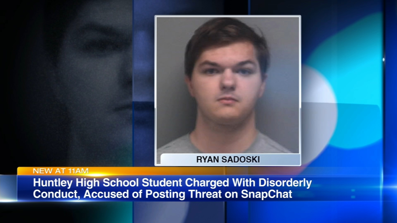 A Huntley High School student is in custody, accused of making a threatening post on Snapchat.