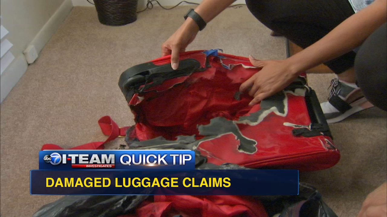 What if your checked luggage gets damaged or destroyed? Jason Knowles and the I-Team have these quick tips after investigating the case of burned and charred luggage in a garbage b