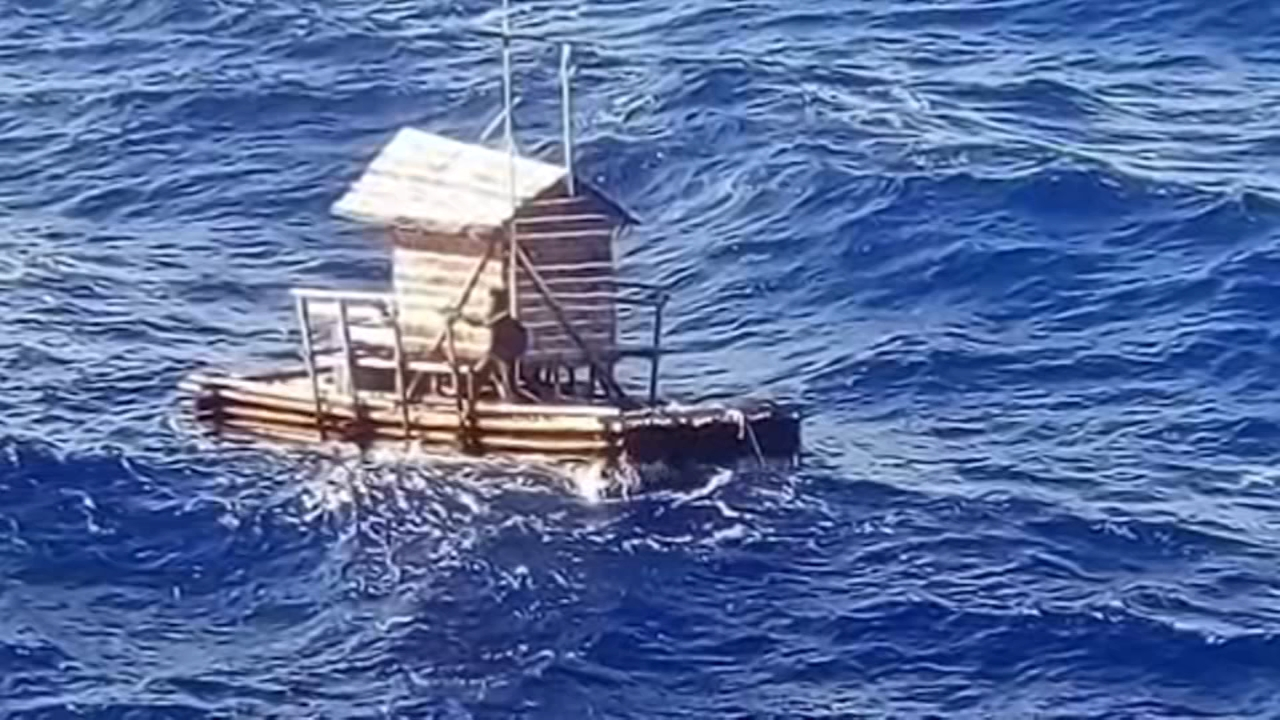 An Indonesian teenager who survived 49 days adrift at sea after the wooden fish trap he was employed to mind slipped its moorings says he ran out of food within a week and survived