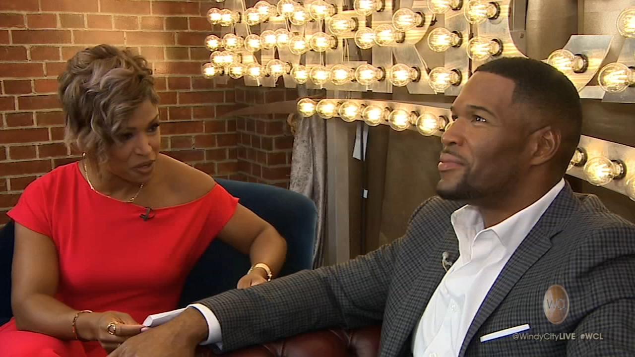 Val interviews Michael Strahan.