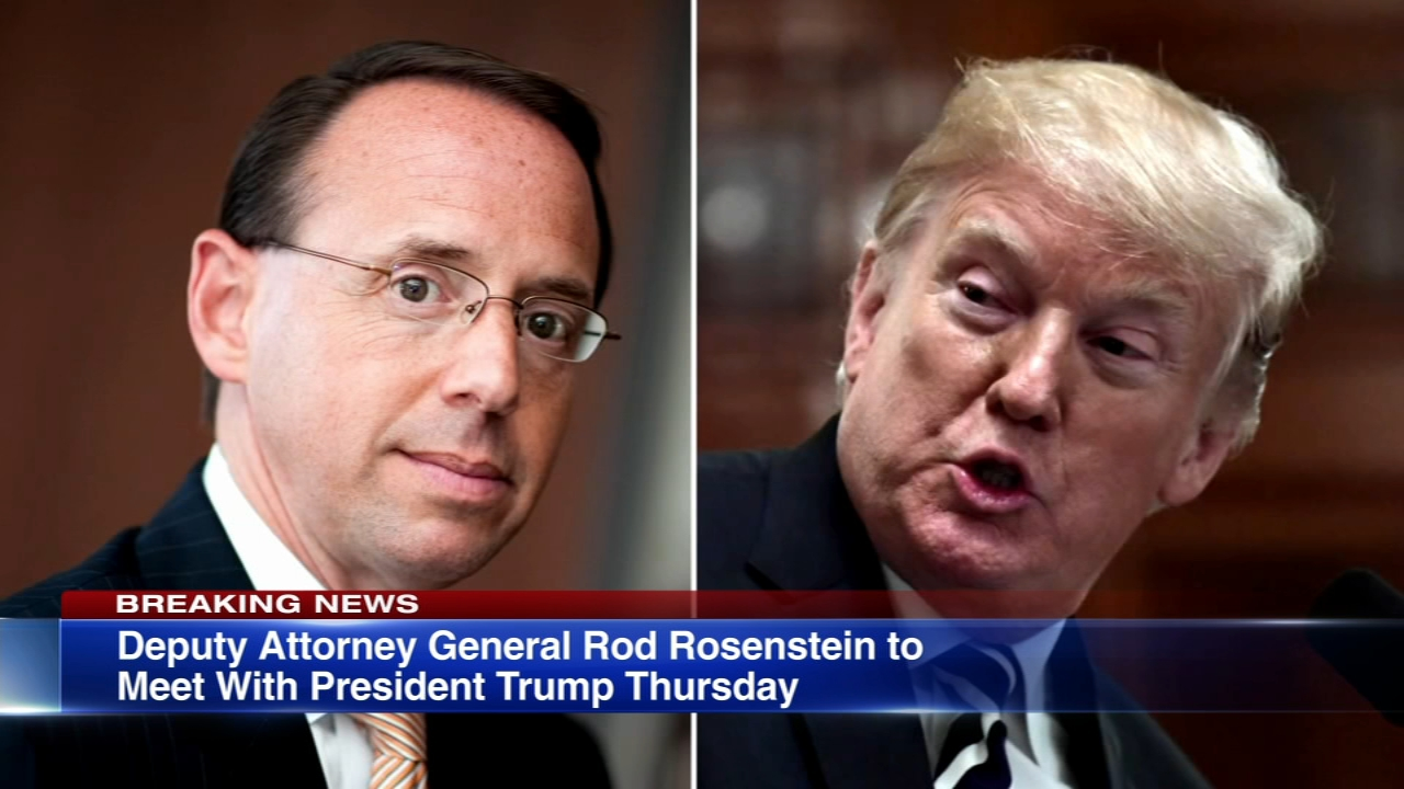 The White House delayed until at least Thursday a decision on the fate of Rod Rosenstein, the Justice Department official overseeing the Trump-Russia investigation, following repor