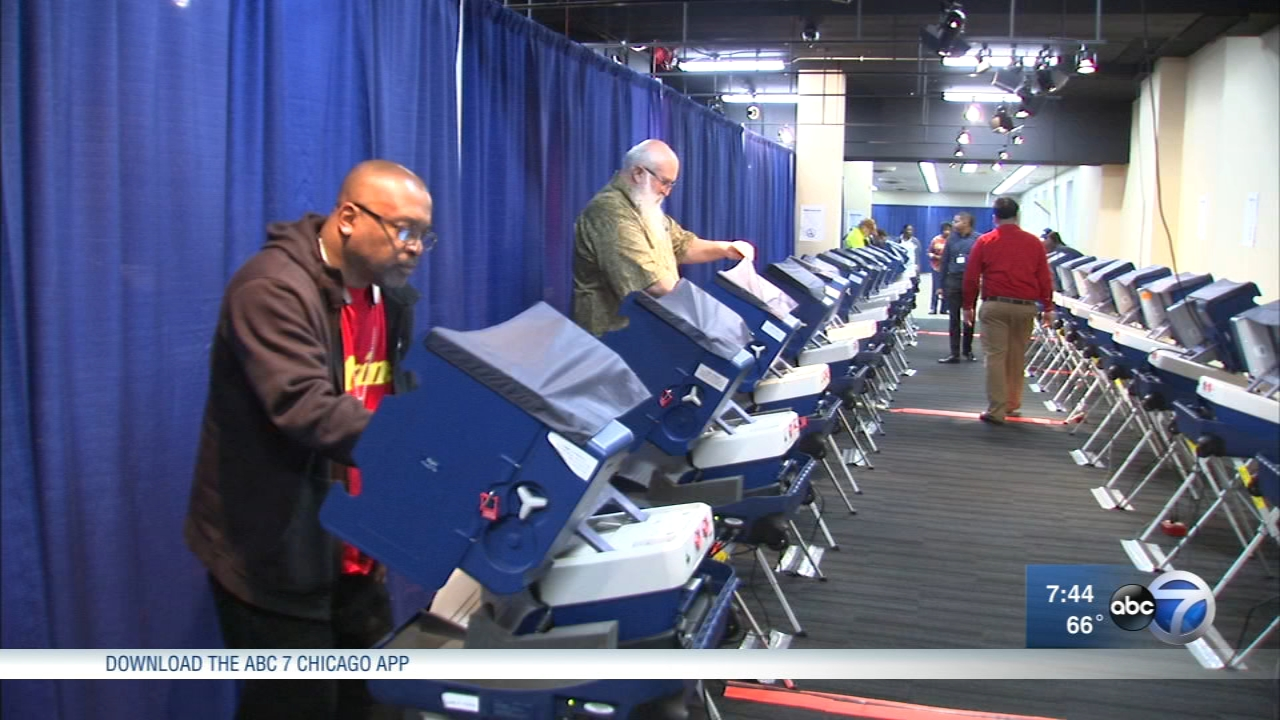 Early voting began Thursday at a limited number of locations for the November midterm election.