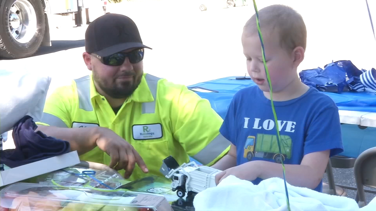 A young boy in Gridley, California, got a sweet surprise from his heroes on Wednesday after a cancer diagnosis this summer.