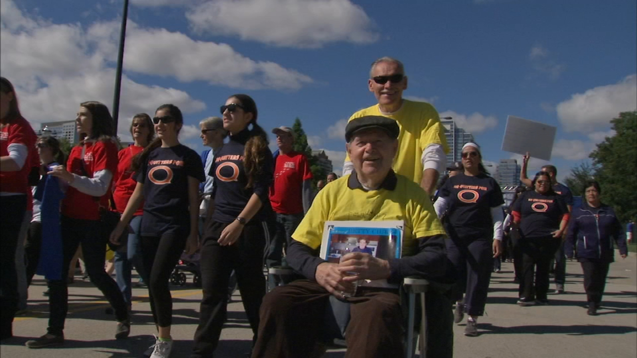 Thousands of people filled Soldier Field this morning for the Les Turner ALS Walk for Life.
