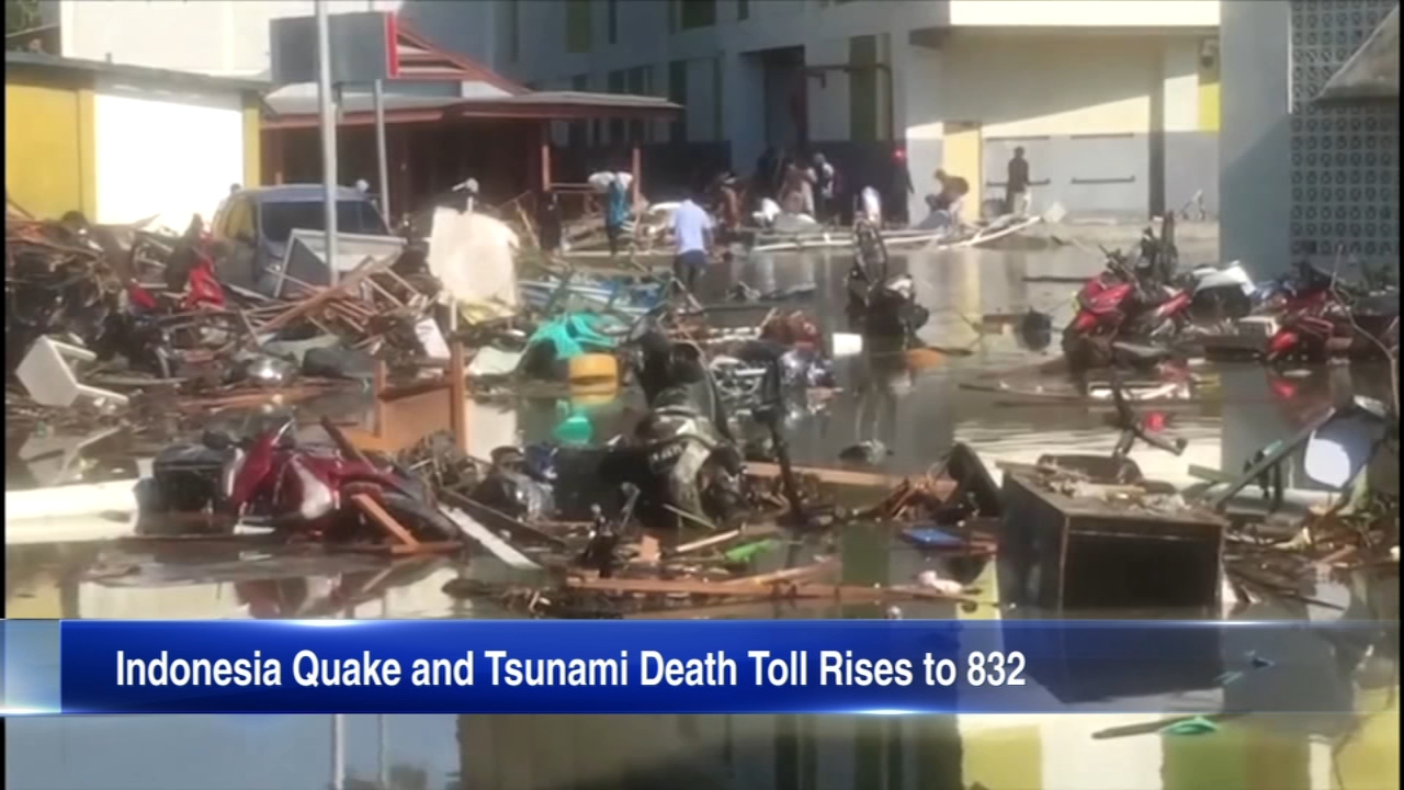 More than 800 people are dead after a tsunami hit Indonesia.