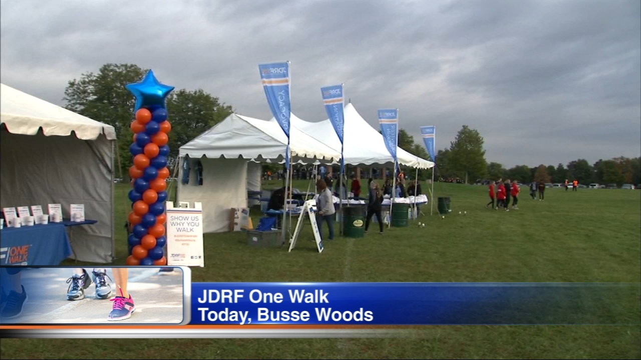 The JDRF One Walk is taking place in six sites across Illinois. The annual event brings together thousands of people to support those living with Type One Diabetes.