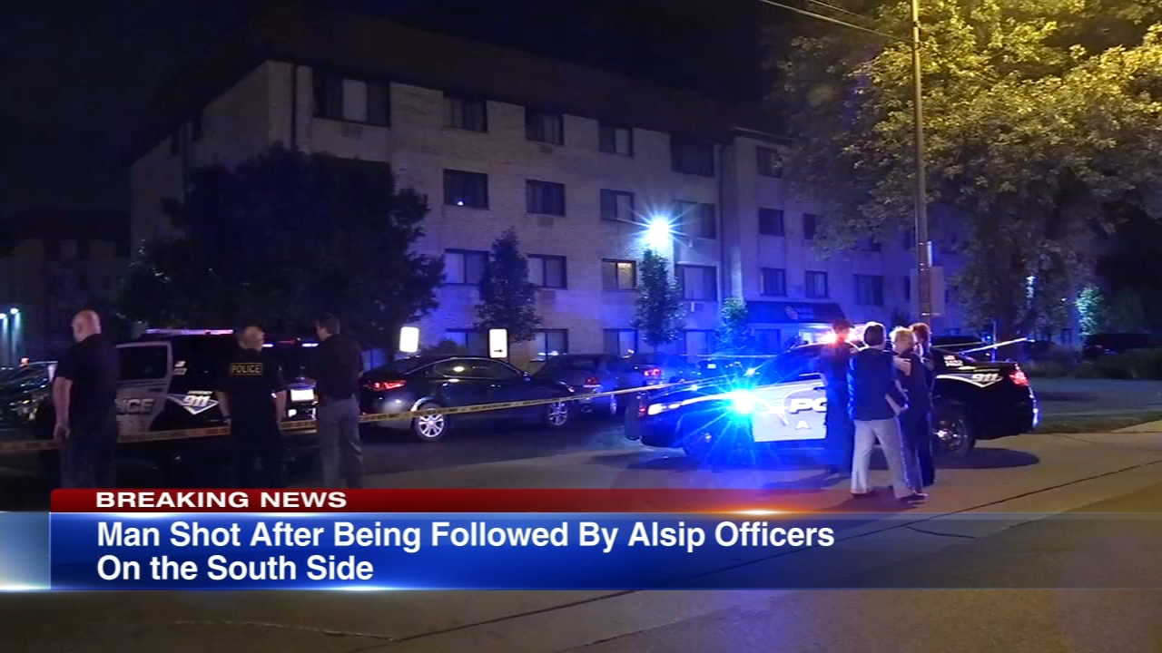 A man was shot by Alsip police in the South Side Mount Greenwood neighborhood Wednesday morning, Chicago police said.