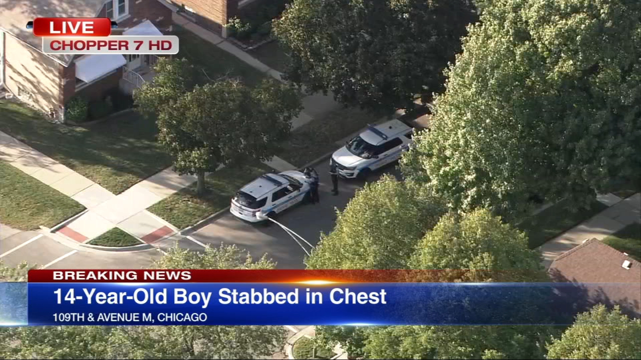 A 14-year-old boy was stabbed in the chest Wednesday afternoon on Chicagos Far South Side.