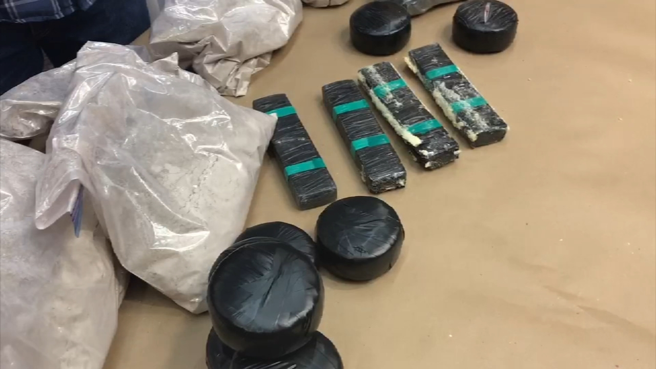 Chuck Goudie and the ABC7 I-Team have learned that 62 pounds of heroin were intercepted during a 48-hour window last weekend and had a street value of $16.5 million.