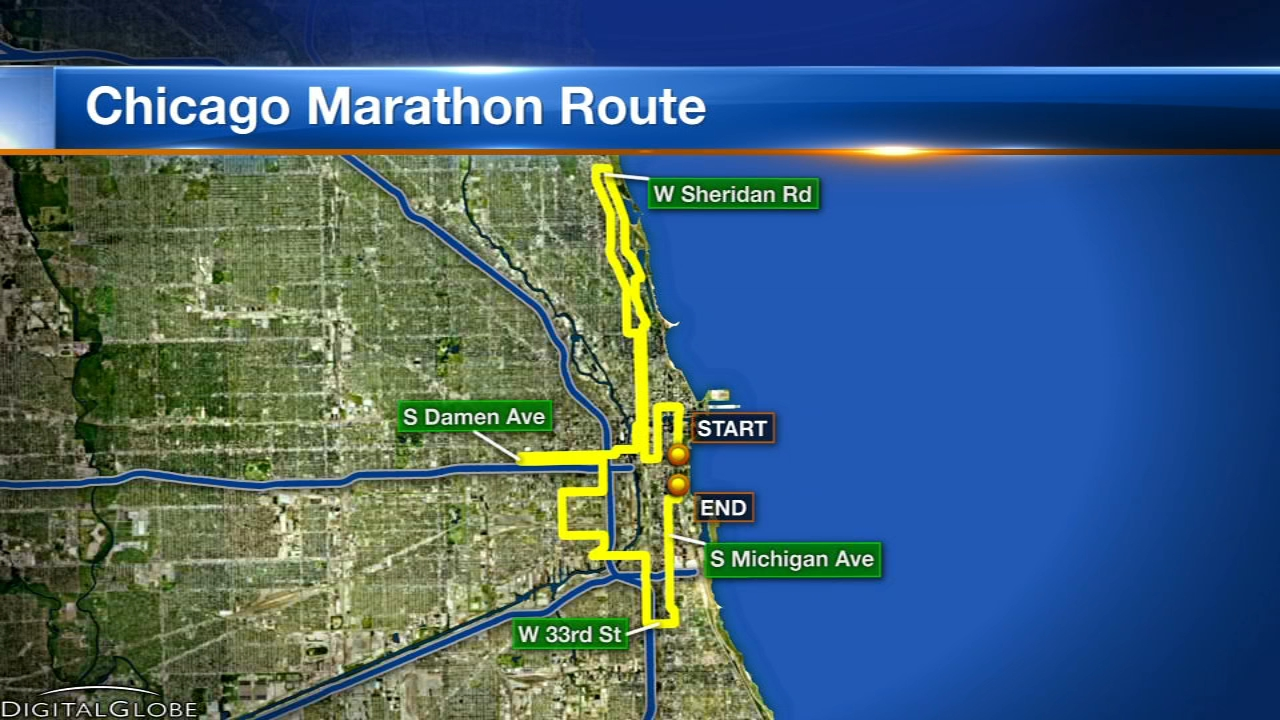 The Chicago Marathon gets underway this Sunday and some streets have already been closed down for the annual event.