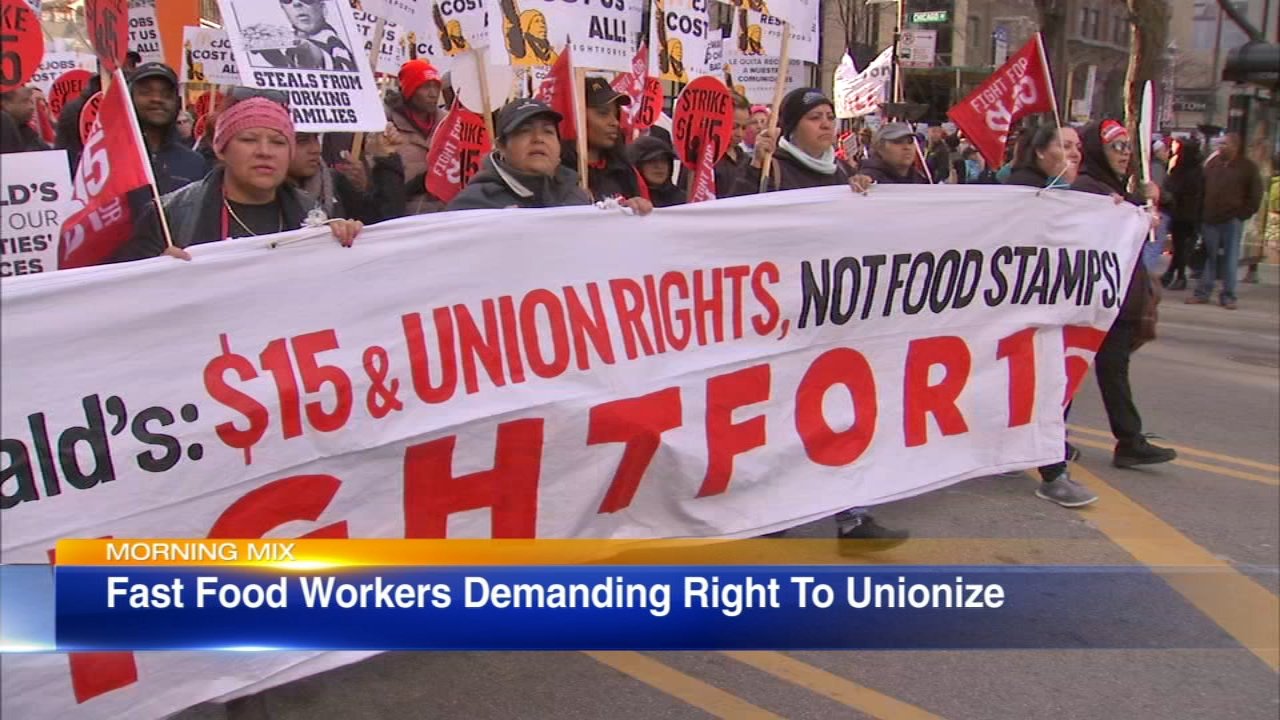 Some local fast food workers are demanding the right to form a union.