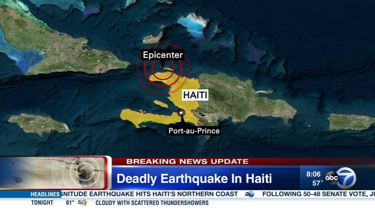 A magnitude 5.9 earthquake killed at least 11 people and left several injured near Port-de-Paix, Haiti.