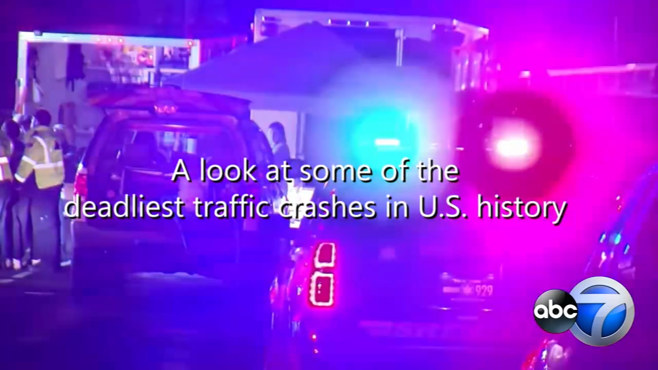 The limo crash in New York ranks among the deadliest traffic accidents in U.S. history. Take a look at some others.