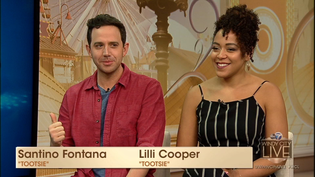Actor Santino Fontana and co-star Lilli Cooper talked about their lead roles in Tootsie.